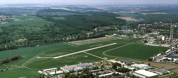 View of the airport Zlin